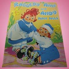 Rare 1957 Raggedy Ann Andy Paper Doll Book Uncut