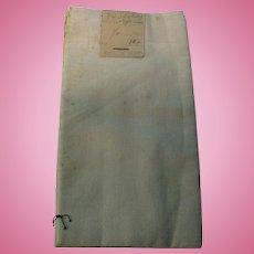 Vintage 1/2 Yard Cotton Sheeting w Tag