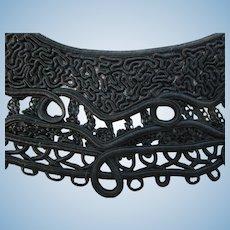 Victorian Black Soutache Collar & Cuffs