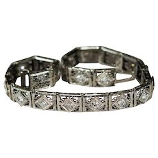 Old European Cut Diamond Bracelet 18k Gold Diamond Line Bracelet
