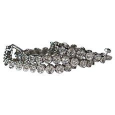 Diamond Tennis Bracelet 3.40ctw 10k Gold Natural Diamond Bracelet