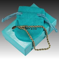Tiffany Rope Chain Bracelet 14k Gold Original Box Tiffany Bracelet