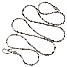 Bali Wheat Link Chain Sterling Silver 925