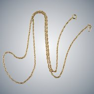Yellow Gold Chain 14k Gold Twist Link Chain Necklace