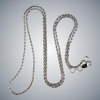 14k White Gold Weave Twist Link Pendant Chain Necklace