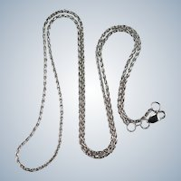 14k White Gold Weave Twist Link Pendant Chain Necklace