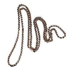 """Vintage Rose Gold Rolo Link 10k Chain 27"""" Necklace"""