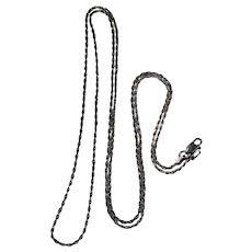 "Classic Vintage Rope Chain 925 Sterling Silver 30"" Pendant Chain Necklace"