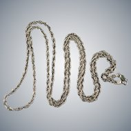 Milor Twist Rope Chain 925 Sterling Silver Pendant Necklace
