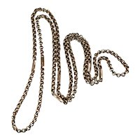 """Rose Gold Rolo Link Chain 27"""" 10k Gold Necklace"""