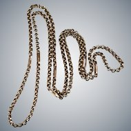 """Sweet Rose Gold Rolo Link Chain 27"""" 10k Gold Necklace"""