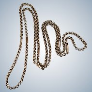"Sweet Rose Gold Rolo Link Chain 27"" 10k Gold Necklace"