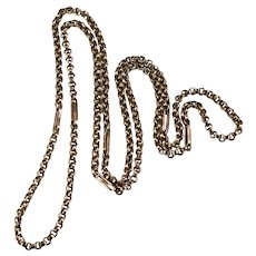 "Rose Gold Rolo Link Chain 27"" 10k Gold Necklace"