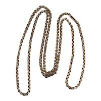 """Vintage Hand Crafted Belcher Chain 27"""" 10k Rose Gold Rolo Chain Necklace"""