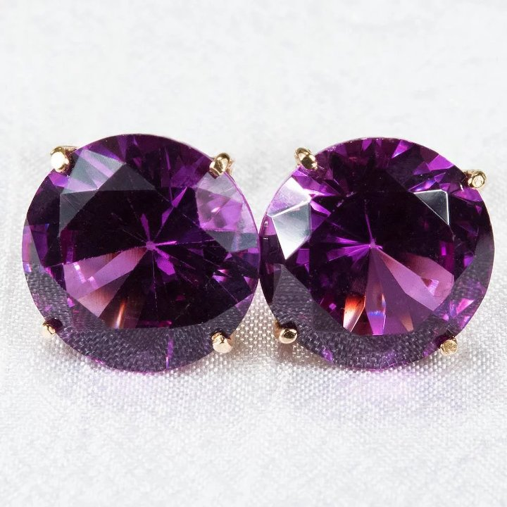 img stud edited natural silver earrings alexandrite sapphire sterling