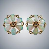 Opal Studs 14k Pierced Stud Post Earrings