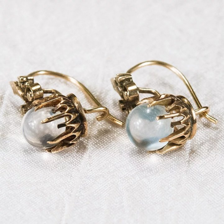 oval silver moon sterling product wire moonstone bloomingoak locking earrings design stone