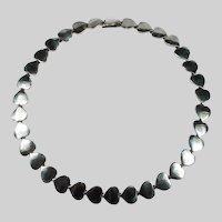 Hans Hansen Heart Necklace 925 Sterling Silver Denmark Karl Gustav Hansen Hearts