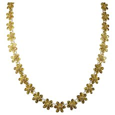 Yellow Sapphire Chain 18k Flower Station Necklace 48ctw Sapphire By The Yard Gemstone Chain