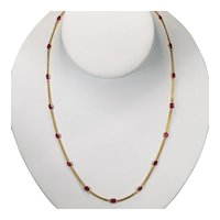 Ruby By The Yard Gemstone Chain 18k Station Necklace