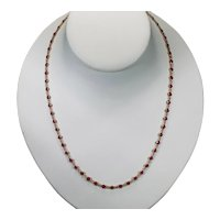 Ruby By The Yard Gemstone Chain 12ctw 18k Bezel Set Station Necklace