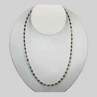 Sapphire By The Yard Gemstone Chain 13.5ctw 18k Bezel Set Station Necklace
