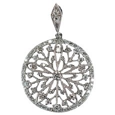 Diamond Snowflake Filigree Pendant 1.15ctw 14k Gold Natural Diamond Pendant