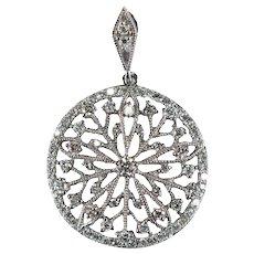 Diamond Snowflake Filigree Pendant 1.15ctw 14k Gold Natural Diamond Pendant