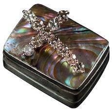 Natural Champagne Diamond Cross Signed 1.39ctw 14k Rose Gold Religious Diamond Pendant