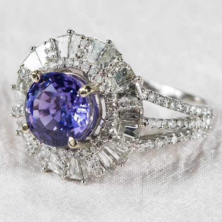 engagement twitter replies likes rings sapphire lavender retweets b