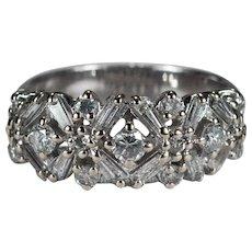 Natural Diamond Snowflake Ring 1.75ctw 14k Gold Cluster Diamond Band