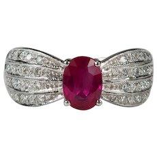 1.50ctw Ruby Diamond Ring 18k Gold