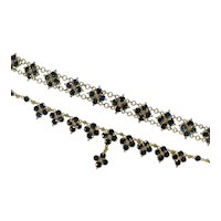 Sapphire Gemstone Chain Set 18k Gold Bezel Set Sapphire By The Yard Necklace Bracelet