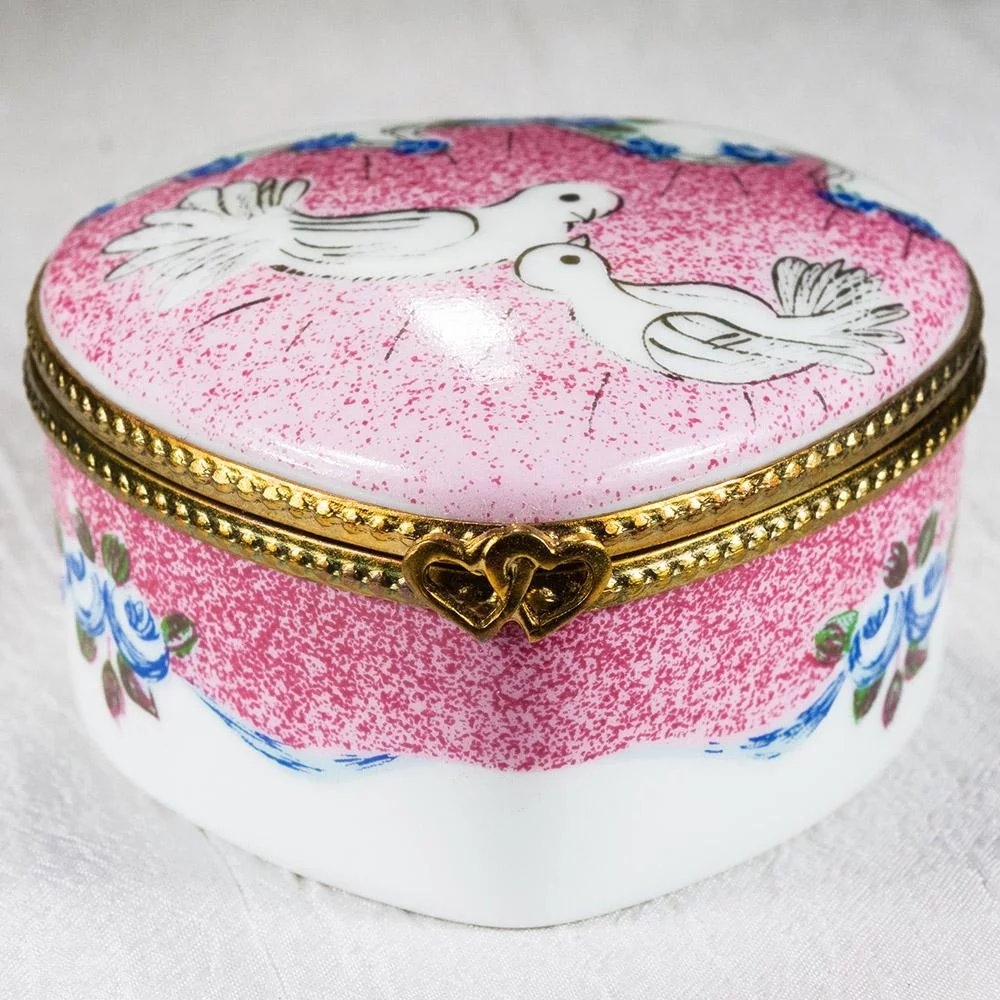 Limoges Heart Doves Wedding Hand Painted Trinket Box : Tanya\'s ...
