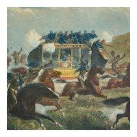 Wells Fargo Overland Mail Stagecoach Print