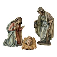 Anri Holy Family Nativity by Ulrich Bernardi, Jesus, Mary, Joseph, in Color