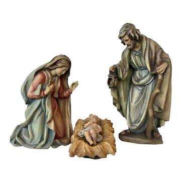 Anri Holy Family Nativity by Ulrich Bernardi, Jesus, Mary, Joseph, in Color