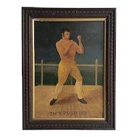 Bare Knuckle Boxing Portrait Oil Painting, Tilling, 1872