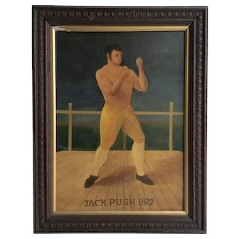 Bare Knuckle Boxing Portrait Painting, 1872