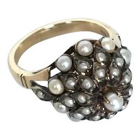 Thai Pearl Princess Ring 14K, Tommys Gems, Bangkok