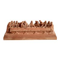 Carved Wood Last Supper