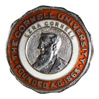 Hat Pin, The Cornell University • Founded A.D. 1865 • Ezra Cornell