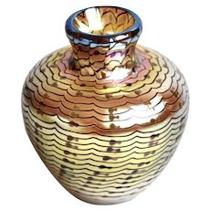 1977 Lundberg Studios Art Glass Vase