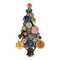 John ffrench, Arklow Studio Pottery, Ireland, Christmas Tree Wall Plaque
