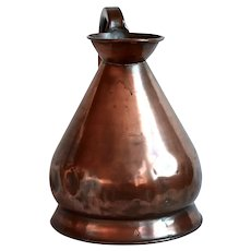 British Royal Navy Copper Gallon Measure, Victorian