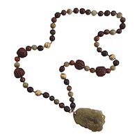 Kai-Yin Lo Jade and 14K Gold Bead Jade Gourd Pendant Necklace