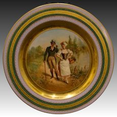 Vienna Austria beehive portrait plate Tempting Fruits signed