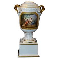 Massive Rosenthal handled portrait urn vase signed C Bohm