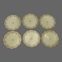 Theodore Haviland Limoges Schleiger set of pink blue floral plates