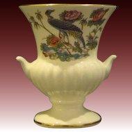 Wedgwood bone china Kutani Crane urn form handled toothpick holder